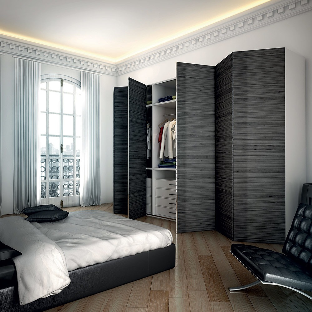 Zig Zag Wardrobe - Products - Ternoscorrevoli - Sliding systems for doors for furniture and for glass & Zig Zag Wardrobe - Products - Ternoscorrevoli - Sliding systems for ...